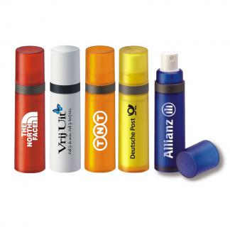 Personalised sun spray available in 5 standard colours